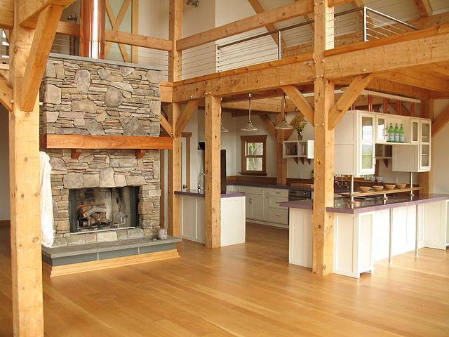 Post_and_Beam_Barn_Kitchen_By_Vermont_Timber_Works_Inc.__[CC-BY-SA-3.0_(http_creativecommons.org_licenses_by-sa_3.0)]_via_Wikimedia_Commons